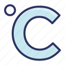 celsius, centigrade, temperature, weather icon