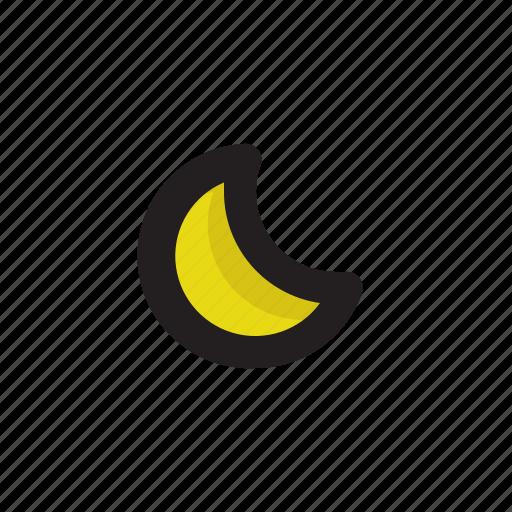 moon, night, weather icon