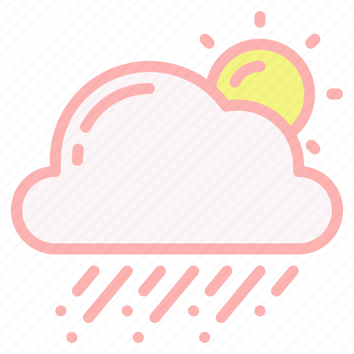 cloud, day, hail, sun, weather, wind icon
