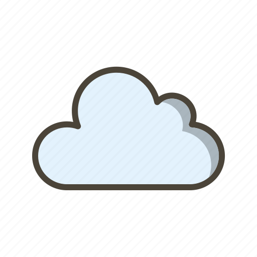 cloud, cloudy, overcast icon