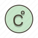 celcius, degree, forecast, temperature icon