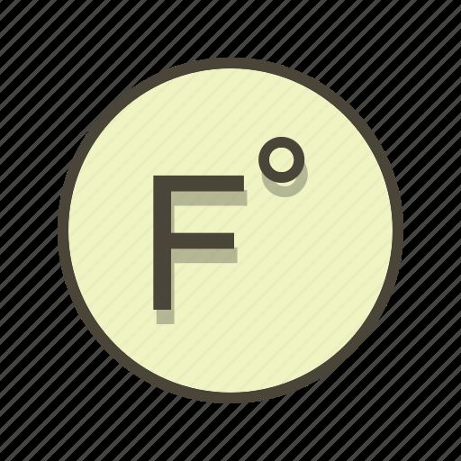 degree, farenheit, temperature icon