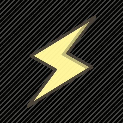 bolt, lightning, lightning button icon