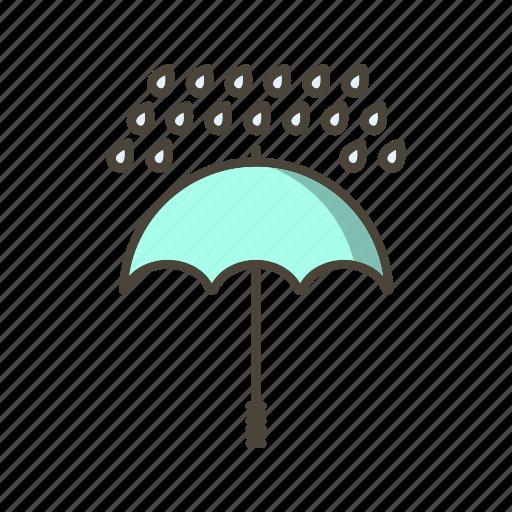 protection, raining, umbrella icon