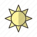 brightness, summer, sunny icon