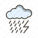 cloud, dark ray, lightning icon