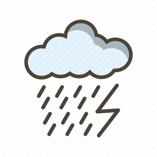 cloud, dark ray, lightning icon