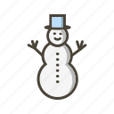 snow, snow man, snowman icon