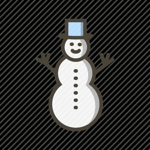 snow, snow man, snowman icon