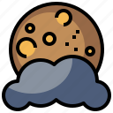 cloudy, meteorology, moon, nature, rainy, storm, weather icon
