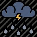 cloudy, meteorology, nature, rain, rainy, storm, weather icon