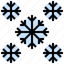cloudy, cold, meteorology, nature, snowflakes, storm, weather icon