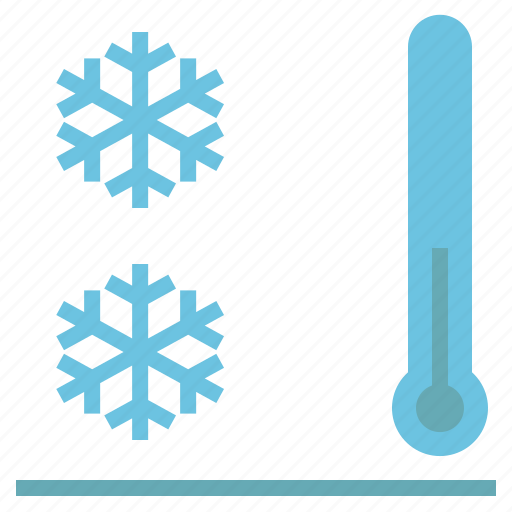 chilling, cool, cooling, frosty, snow, snowflake, thermometer icon