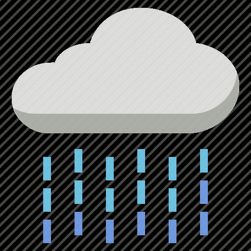 cloud, rain, raindrop, rainfall, rainy, wet icon