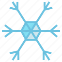 freeze, freezing, hexagon, snow, snowfall, snowflake, winter icon