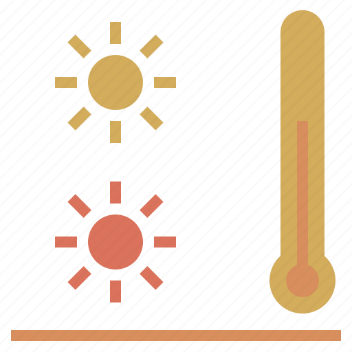 lukewarm, sun, temperate, tepid, thermometer, warm, warmth icon