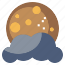 cloudy, meteorology, moon, nature, rain, storm, weather icon