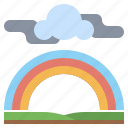 cloudy, meteorology, nature, rain, rainbow, storm, weather icon