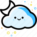 weather, cloud, moon, forecast, night