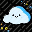 weather, cloud, rain, moon, forecast, night