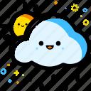 weather, rainy, forecast, sun, cloud