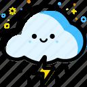 weather, cloudy, rain, forecast, thunder