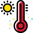 weather, thermometer, sun, fahrenheit, celsius, hot