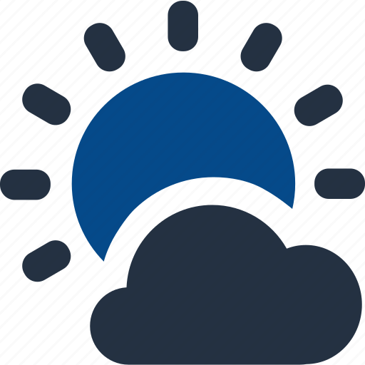 climate, cloudy, forecast, storage, sunny, weather icon