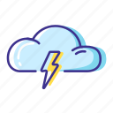 cloud, lightning, thunderstorm, weather icon