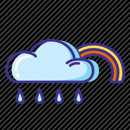 cloud, rain, rainbow, weather icon