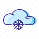 cloud, forecast, snow, weather icon