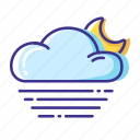 cloud, fog, moon, weather icon