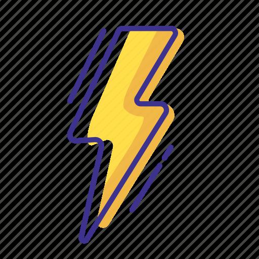 forecast, lightning, thunderstorm, weather icon