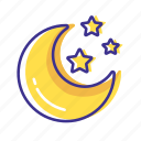 forecast, moon, star, weather icon