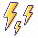 forecast, lightning, thunderstorm, weather icon
