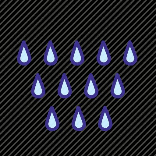 forecast, rain, rainy, weather icon