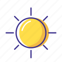 forecast, sun, weather icon