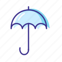 forecast, rain, umbrella, weather icon
