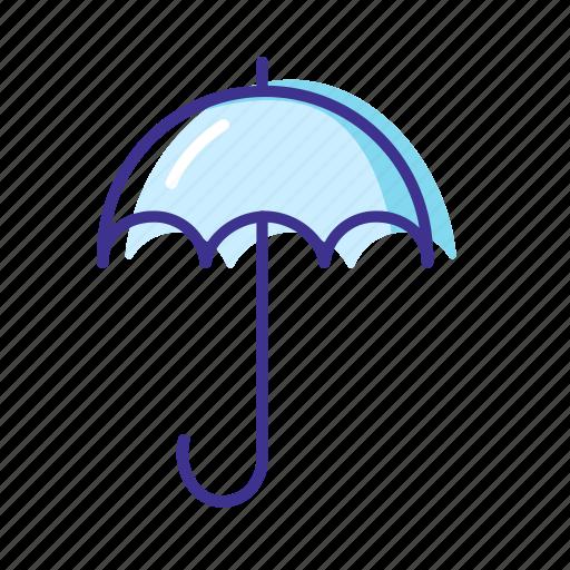 forecast, rain, umbrella, weather icon
