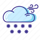 cloud, snow, weather, wind icon