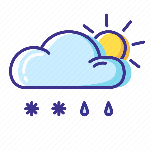 cloud, rain, snow, weather icon