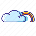cloud, forecast, rainbow, weather icon