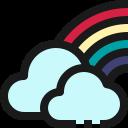 weather, cloud, rainbow