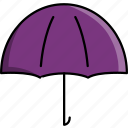 cold, rain, rainy, umbrella, weather icon
