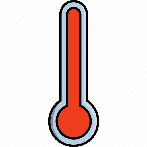 glass, hot, indoor, thermometer, weather icon