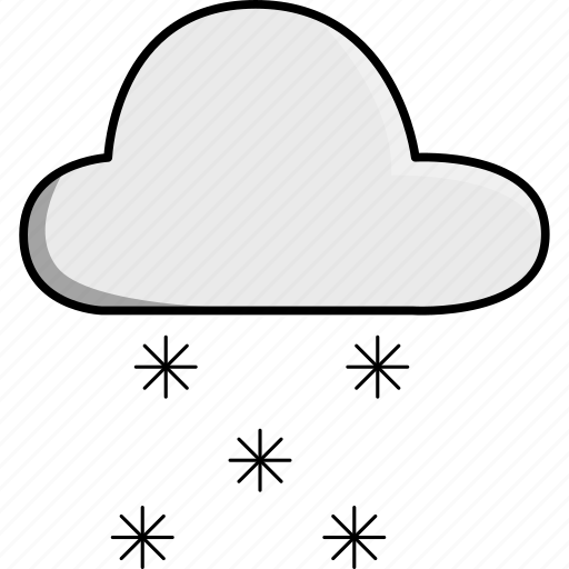 cloud, nature, snow, snowing, weather icon