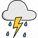 cloud, nature, rain, rainy, storm, weather icon