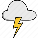 cloud, day, light, nature, thunder, weather icon