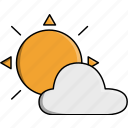 cloud, day, nature, sun, sunny, weather icon