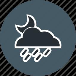 cloud, night, rain icon